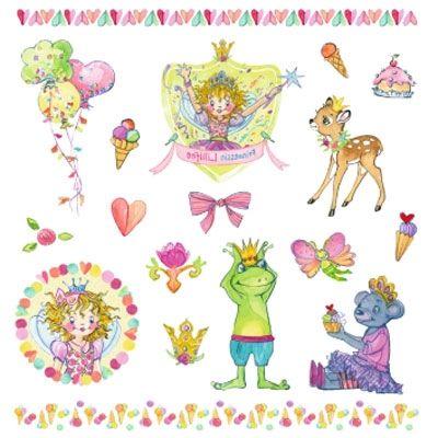 Prinses Lillifee - Plak tattoos met glitters