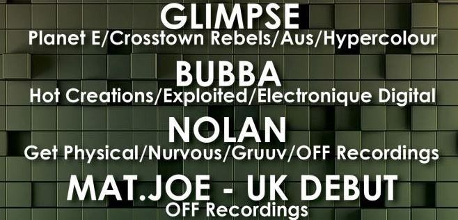 heading here tonight if anyone's up for it? Structured with Glimpse, Bubba, Nolan & Mat.Joe at Hidden Vauxhall