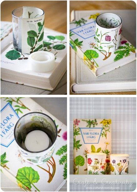 Pretty Paper Candle Wraps and so easy
