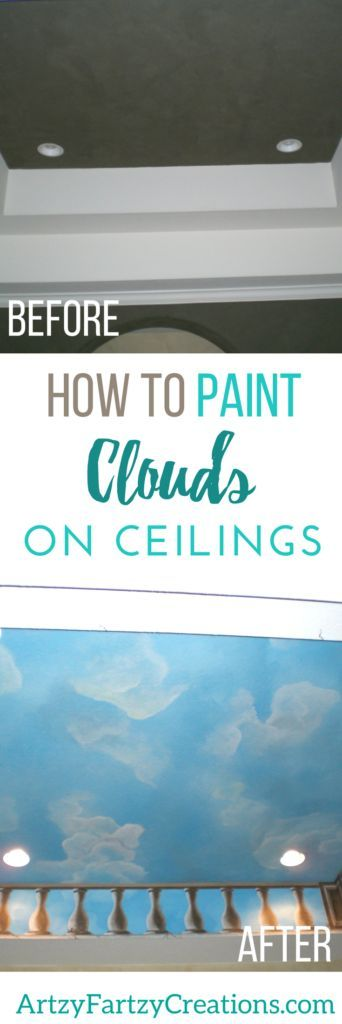 How to Paint Clouds on Ceilings | Painted Clouds on Ceilings & Walls | Cheryl Phan | Painted Ceiling Ideas | Colored Ceilings | Murals