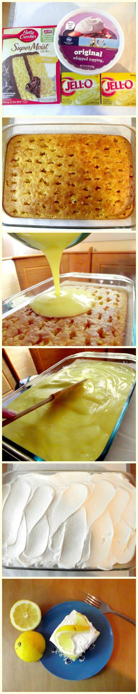 Lemon Pudding Poke CakeLife With The Crust Cut Off