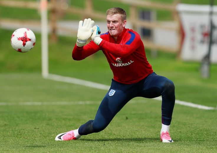 England's Goalkeeper Jordan Pickford during training with the England Under-21 squad at St Georges Park June 7, 2017. Pickford is one of Everton's latest signings. — Reuters picLONDON, …
