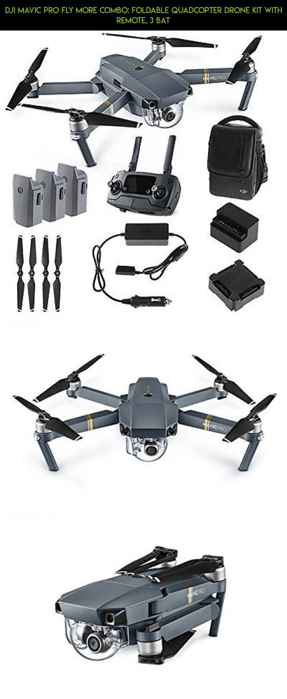 DJI Mavic PRO FLY MORE COMBO: Foldable Quadcopter Drone Kit with Remote, 3 Bat #pro #shopping #camera #products #parts #kit #mavic #kit #plans #combo #technology #fpv #tech #racing #drone #gadgets