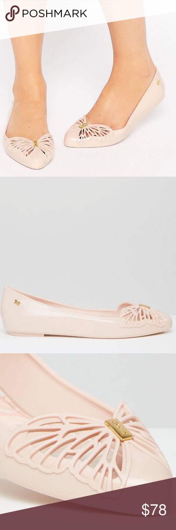 Zaxy Nude Free Point Flats Size 9 Cute cut-out butterfly detail! NWT  ASOS Shoes Flats & Loafers