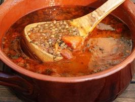 Lentil & Tomato Soup by David Rocco