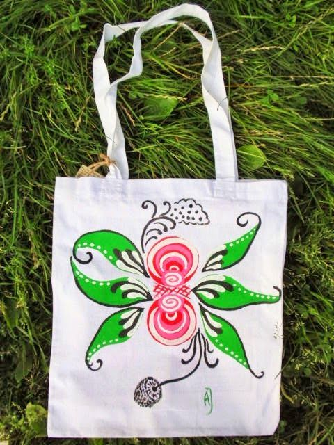 Handpainted bag