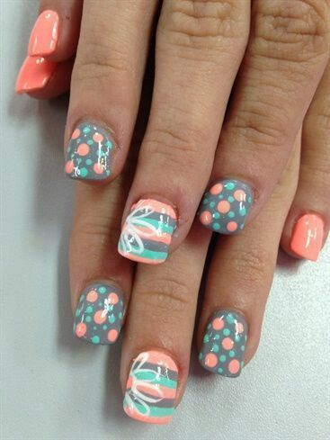 52 Best Nail Art Design With Ombre Color