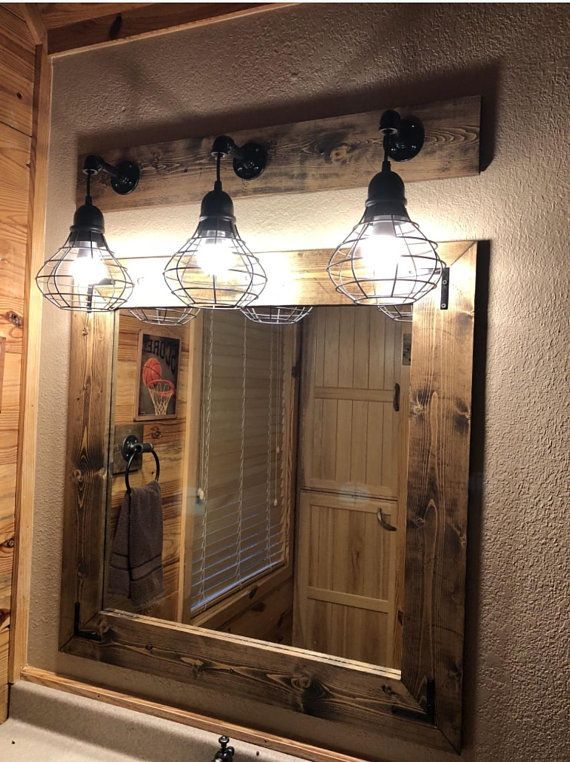 This Is Where You Will Find The Best Lighting Ideas For Your Bathroom Design Ready Set Industrial Bathroom Decor Rustic Bathroom Designs Cage Light Fixture