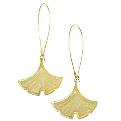 toodles BY TOODLEBUNNY Gingko Leaf Earrings
