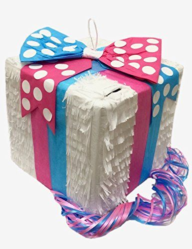 Gender Reveal Gift Box Pinata with Pull Strings Everybodylovespinatas http://www.amazon.com/dp/B0137HKYP8/ref=cm_sw_r_pi_dp_vUW7wb0ASG095