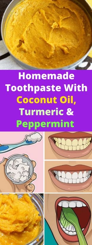 Homemade Toothpaste & Coconut Oil, Turmeric & Pepp…