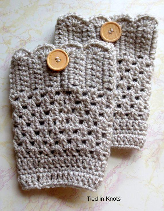 SALE Boot Cuffs Boot Socks Womens Crochet by TiedinKnotsCrochet