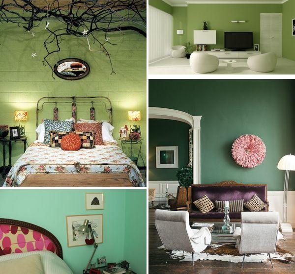 17 beste idee n over groene verfkleuren op pinterest Welke muur verven woonkamer