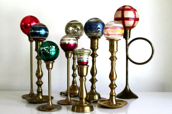 vintage brass candlestick collection--instant collection on Etsy, $27.00