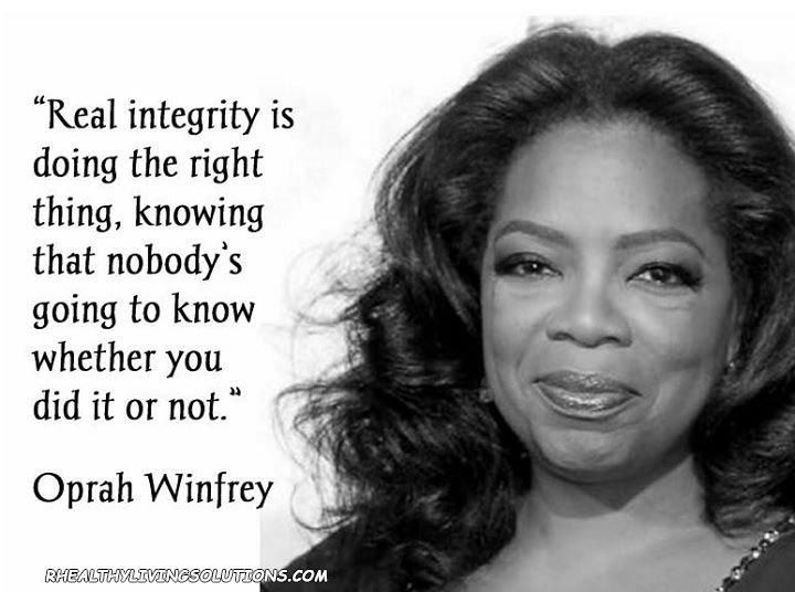 Oprah Winfrey Quote Integrity Infj Inspirational Quotes