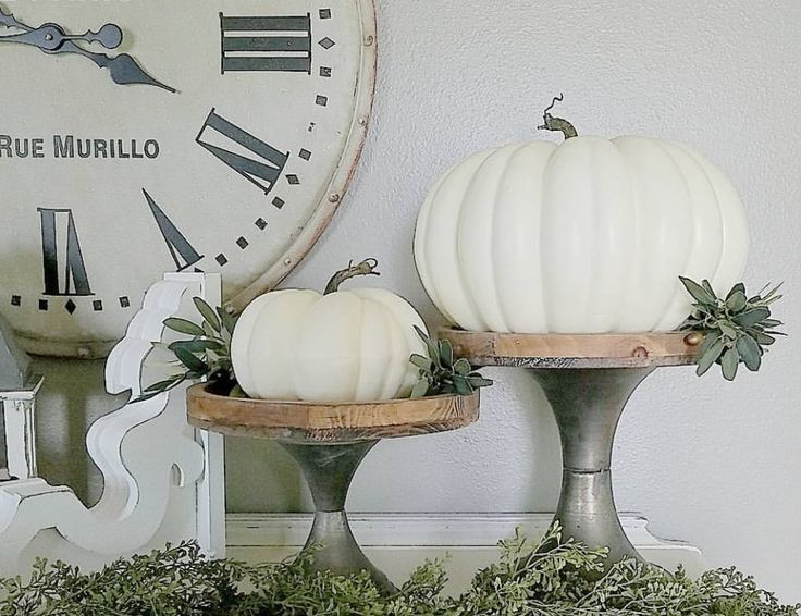 Wood & Metal Display Stands | farmhouse | home decor | fall decorating | Centerpiece | cake stands | autumn decor | fixer upper style