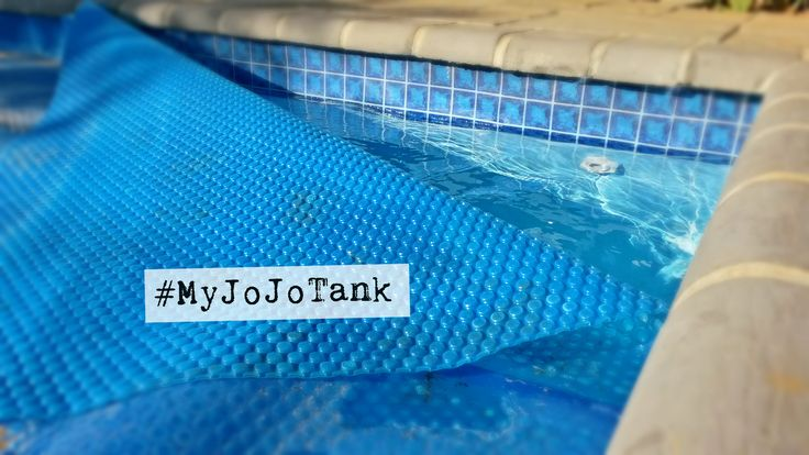 Now that the weather is cooler, our pool is almost permanently covered (this means we're saving water because there's less evaporation). But it still has to be topped up. We used just over 1000 litres from #MyJoJoTank to top it up.