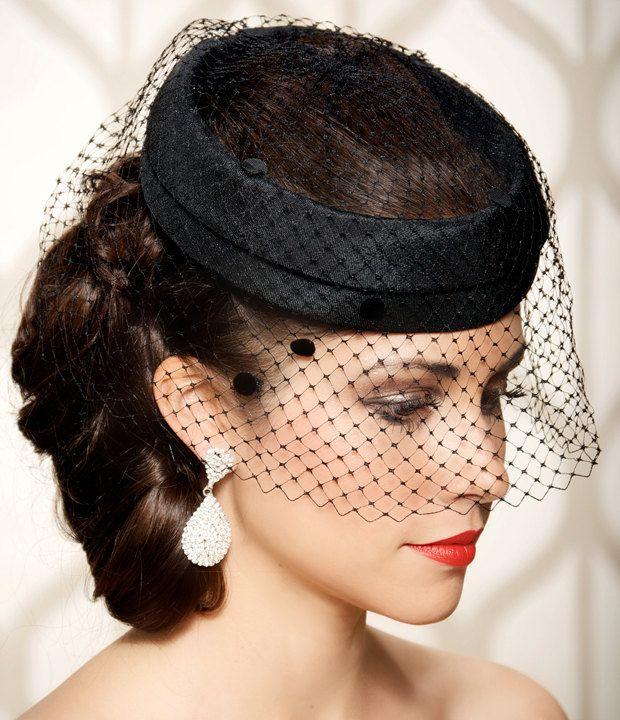 Black Bridal Cocktail Hat 02e21821c88