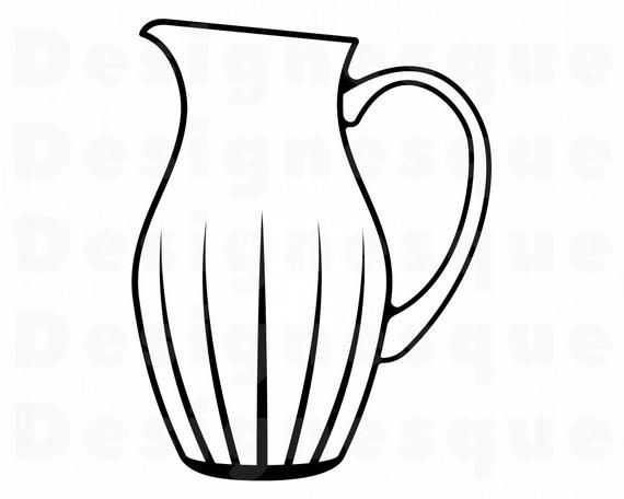 Water Pitcher 2 Svg Water Pitcher Clipart Water Pitcher Etsy In 2021 Clip Art Svg Water Pitchers