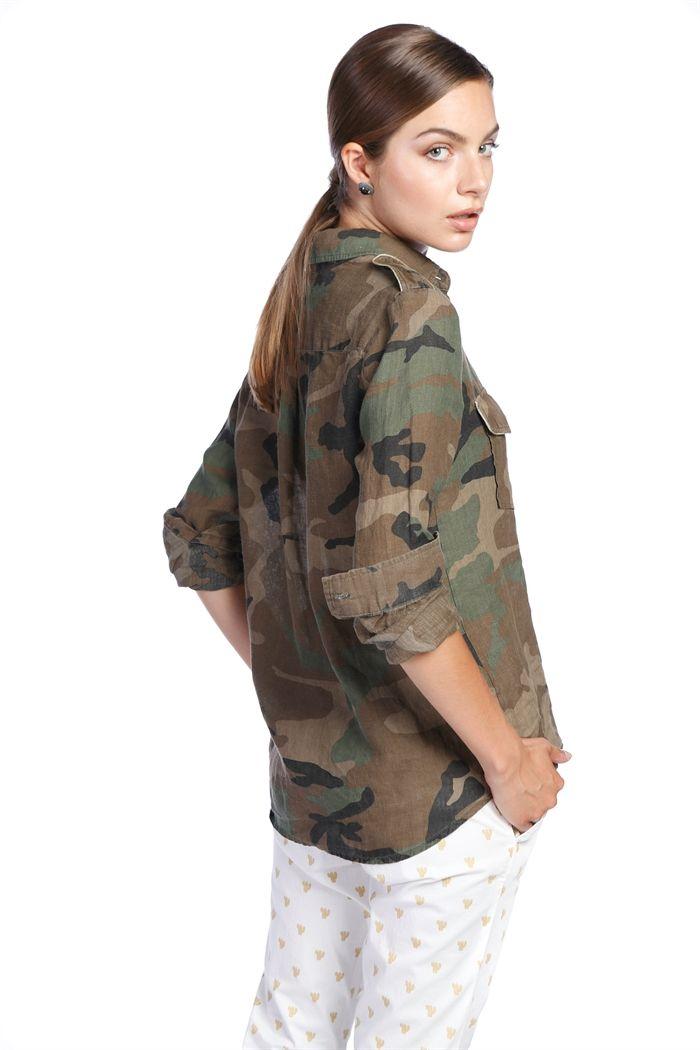 Camicia Masons In Azelia Mimetico Lino Militare Mason's Donna qWA1PfqO
