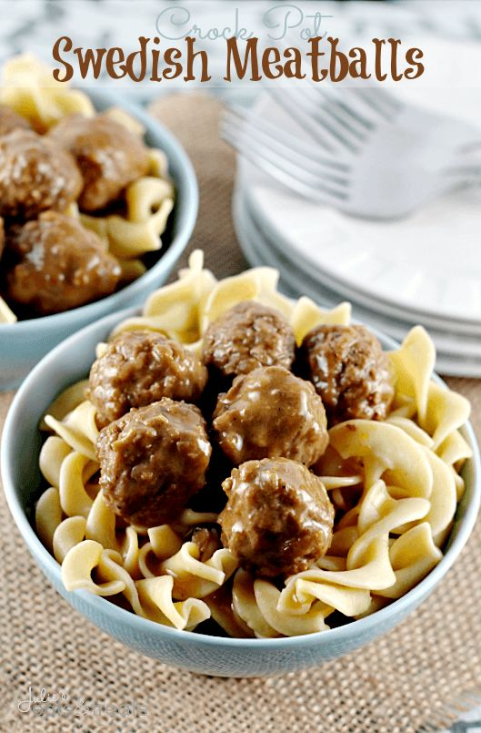 Crock Pot Swedish Meatballs ~ Quick and Easy Swedish Meatballs for a busy weeknight!