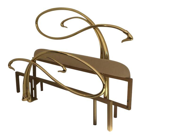 art nouveau furniture. swan motif art nouveau style brass king-size bed on decaso.com furniture n