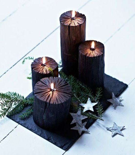 Masculine Christmas advent decoration.