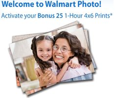 25 FREE 1-Hour 4X6 Prints at Walmart you need to sign up a new account at Walmart Photo, on the right side of their page. They will email you a code for 25 FREE 1-Hour 4X6 Prints. Just follow the instructions in your email to get your FREE prints. Make sure you select in-store pick up, to make it 100% Free. http://linksynergy.walmart.com/fs-bin/click?id=W4Pk11tsBoQ==183959.1=10=1082_PARM1=http%3A%2F%2Fphotos.walmart.com%2Fwalmart%2Fwelcome