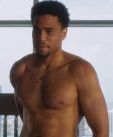 Michael Ealy with his shirt OFF