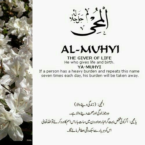 60 Al Muhyi (The Giver of Life)