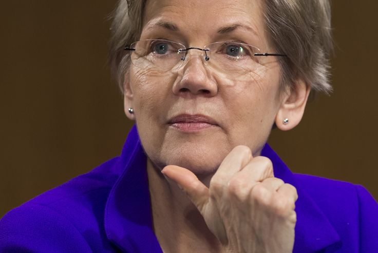 (FILES) This file photo taken on February 24, 2015 shows US Senator Elizabeth Warren(D-MA), as she attends a US Senate Banking, Housing and Urban Affairs Committee hearing on Capitol Hill in Washington, DC. Donald Trump has dominated the Twitter battle for the White House by insulting and belittling his rivals, but he has found a formidable social media opponent in the fiery senator and potential Democratic vice presidential pick Elizabeth Warren. While Hillary Clinton prefers to ignore the…