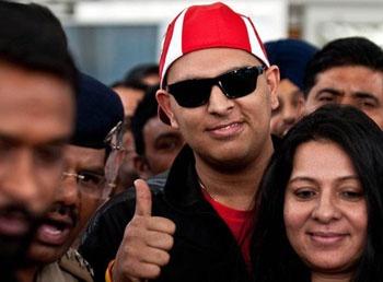 Yuvaraj Singh back to home! - http://www.chitramala.in/news/yuvaraj-singh-back-to-home-128681.html