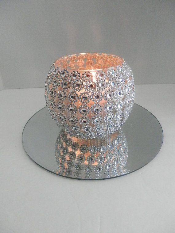 Wedding centerpiece  Bling wedding centerpiece with by EEBdesigns