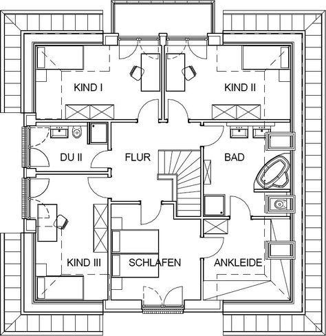 Grundriss stadtvilla 200 qm  91 besten Haus Bilder auf Pinterest | Grundrisse, Architektur und ...