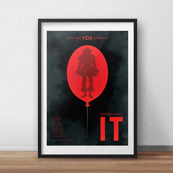 Stephen King's IT Movie 2017 - Alternative Movie Poster - Horror Film Poster - Wall Art - Geek Poster