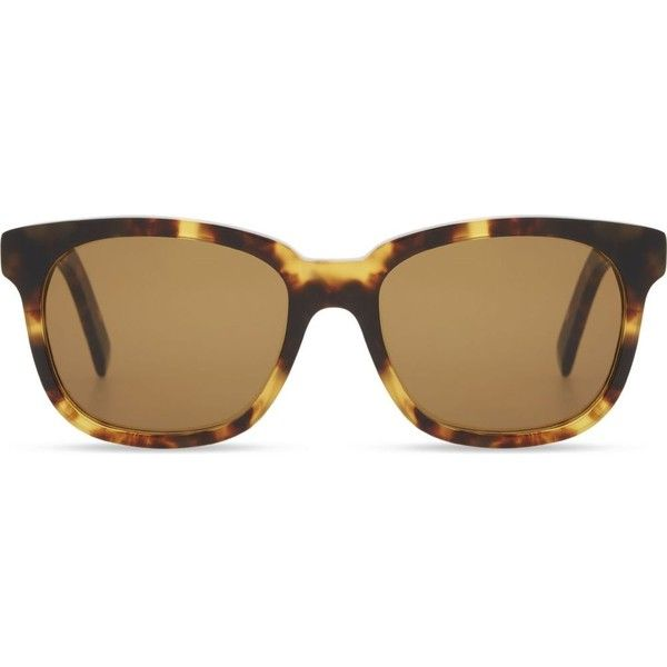 Dick Moby Yellow havana square frame sunglasses ($200) ❤ liked on Polyvore featuring men's fashion, men's accessories, men's eyewear, men's sunglasses, acetate glasses, folding glasses, flat lens sunglasses, lens glasses and square glasses