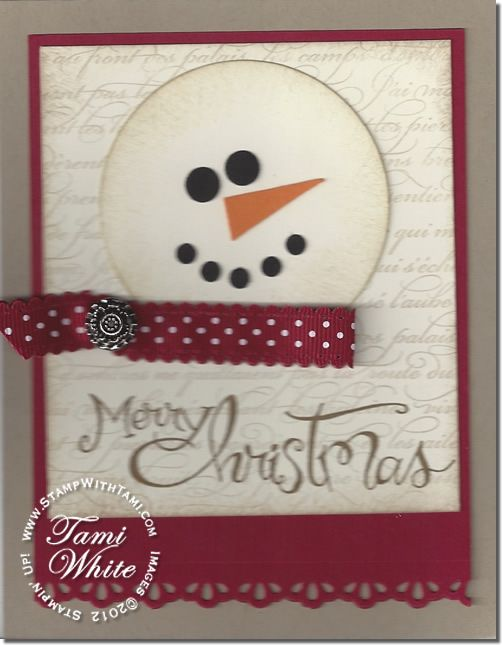 snowman card-fc-stampwithtami  SU Sassy Salutations stamp set