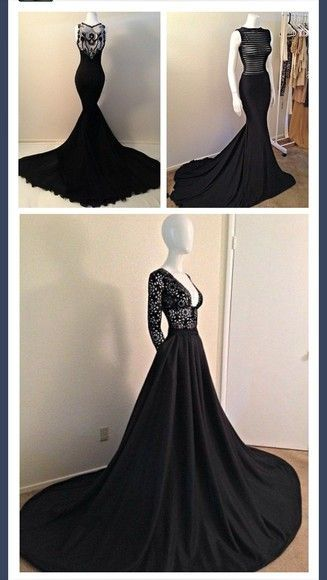black gowns: