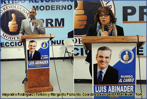 Alejandro Rodriguez y Margarita Pichardo PRM Nueva York