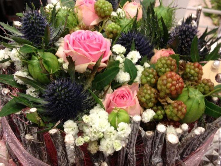 Taartje van bloemen