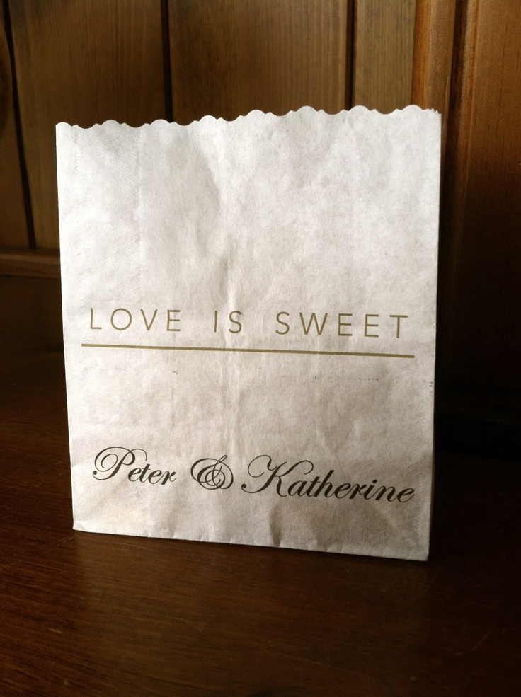 Michigan Candy Buffet. Wedding guests treats bags.
