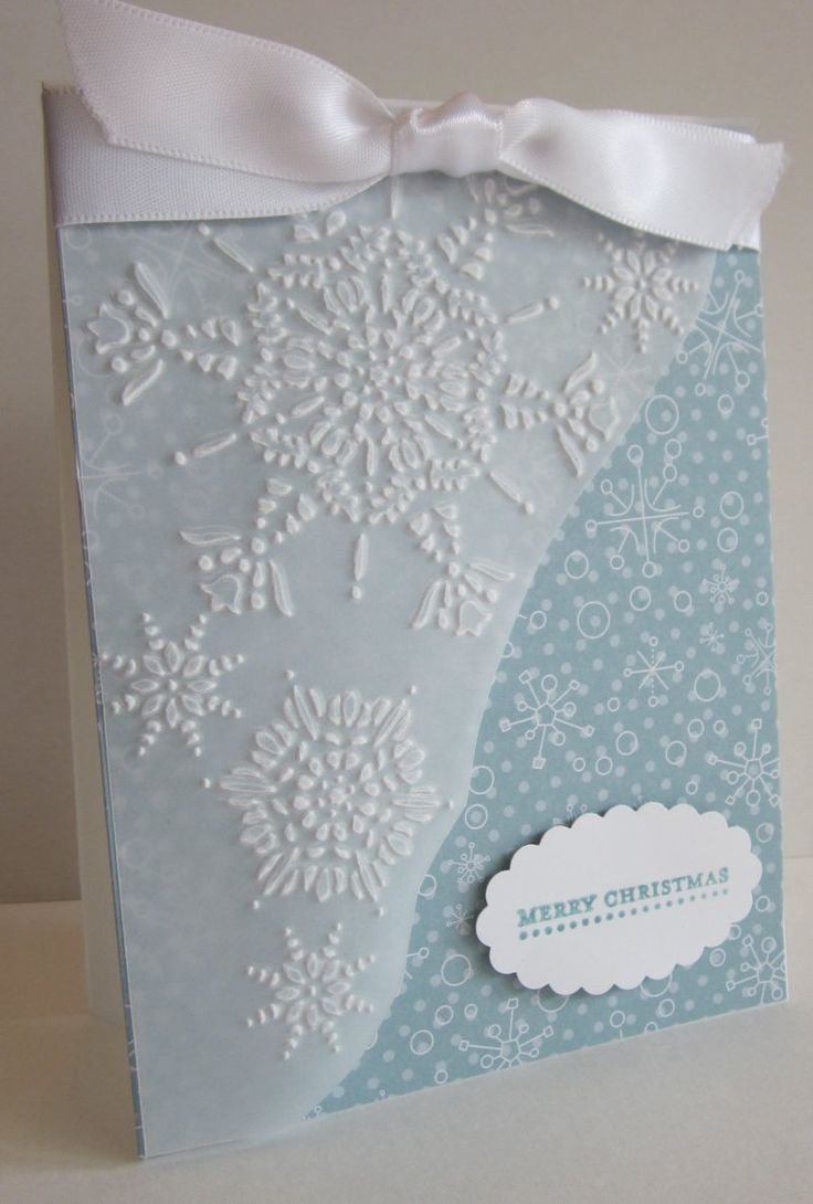 Northern Flurry embossing folder  on vellum.
