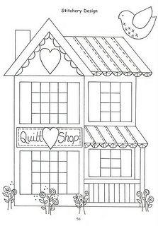 Quilt shop. Misschien leuk met die knoopjes die met naaiwerk te maken hebben of met allerlei beginnersblokken er omheen.
