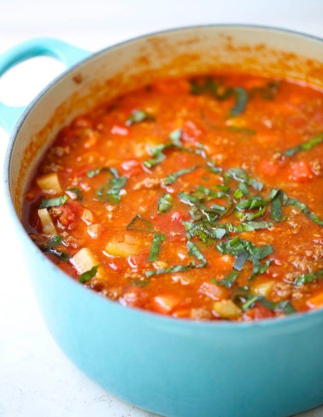 Whole 30 Hearty Vegetable Soup recipe.