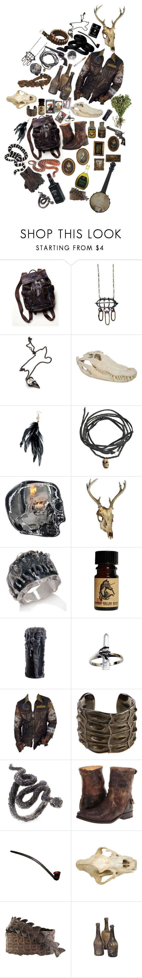 """""""The Hunter"""" by ambre-moon ❤ liked on Polyvore featuring Free People, Alkemie, Pascale Monvoisin, Kosta Boda, Chaco, Lynn Ban, 3:10, Frye, Jayson Home and Fausto Colato"""