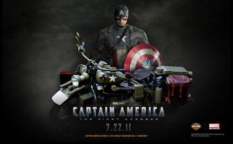 キャプテン・アメリカ/ウィンター・ソルジャーのハーレーダビッドソンは!? : 883R_blog  ちなみに第二次大戦で活躍していた頃の愛車はアメリカ陸軍ハーレーWLA(を模したツインカム)でしたね。