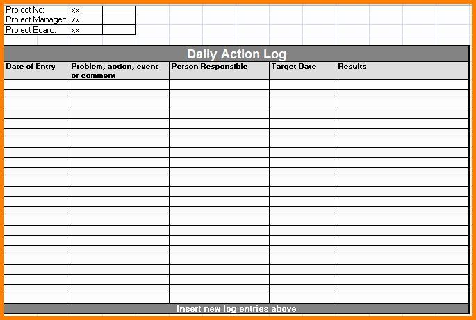 This type of template is used for a person in planning activities for the next day before sleeping. Daily Activity Log Template Excel Best Of Daily Log Sheet Format Pertamini Daily Activities Templates Activities