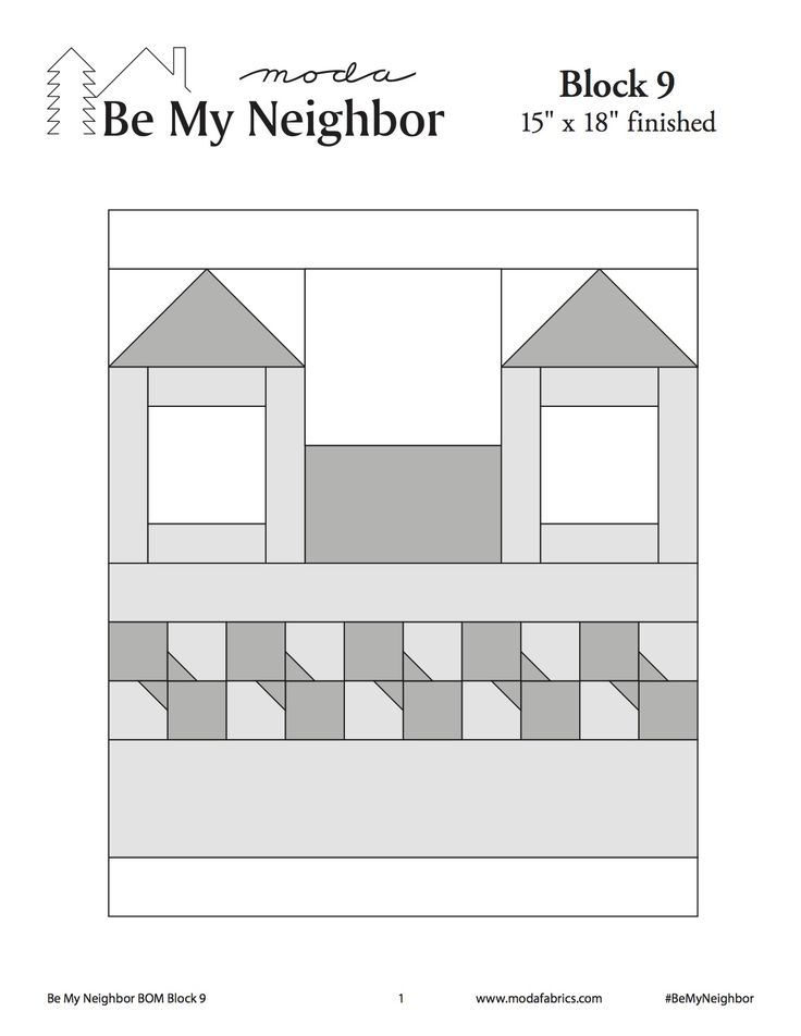 This is Block #9 of Moda's Be My Neighbor Block of the Week.