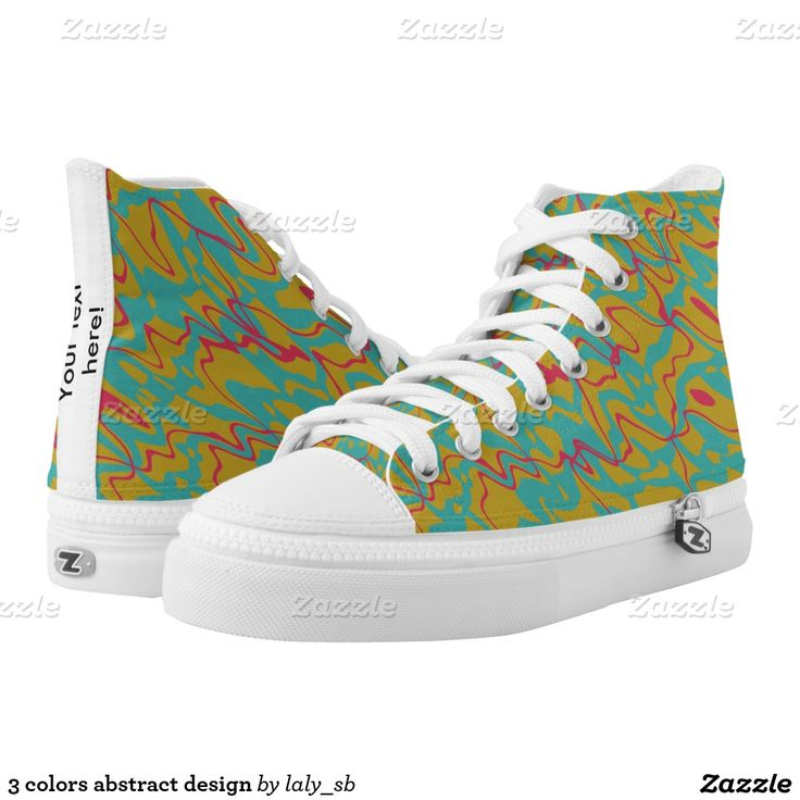 3 colors abstract design printed shoes