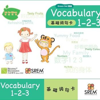 This flashcards of Basic Chinese daily vocabulary is specifically designed for young learners to learn oral Chinese easily. The fine and eye-catching illustrations and its Chinese-English version can meet children's learning characteristic in every way.